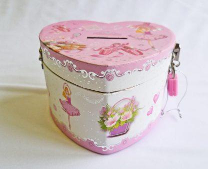 ballerina heart money box