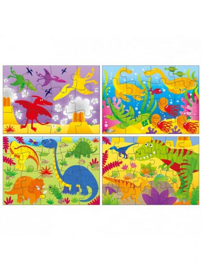 4 puzzles in a box Dinosaurs