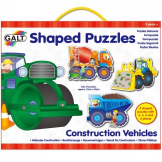 Shaped Puzzles - Construction Vehicles