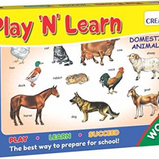 Play & Learn - Wooden puzzle - Domestic Animals